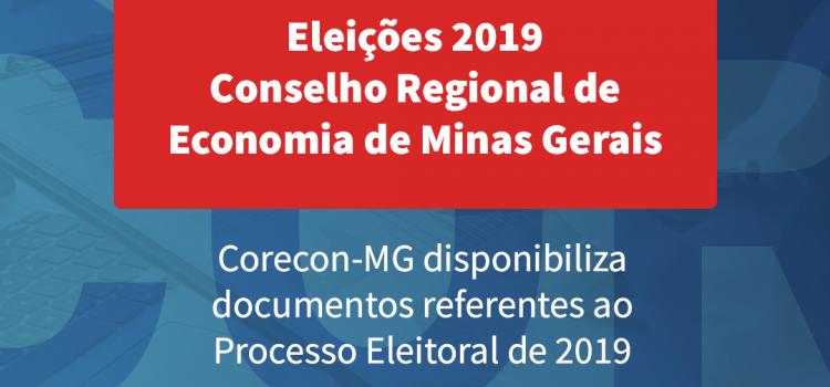 Eleições 2019: Corecon disponibiliza documento referente ao Processo Eleitoral de 2019