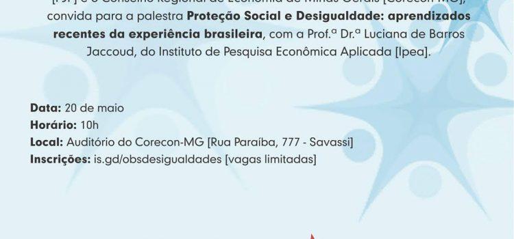 FJP E CORECON-MG PROMOVEM PALESTRA SOBRE PROTEÇÃO SOCIAL E DESIGUALDADE