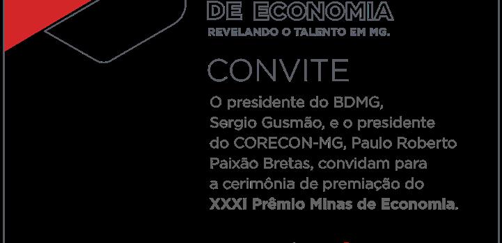 Premiação do XXXI Prêmio Minas de Economia.