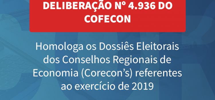 Cofecon formaliza eleições de conselheiros e presidência com publicações no DOU