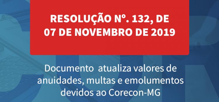 Resolução atualiza valores de anuidades, multas e emolumentos devidos ao Corecon-MG