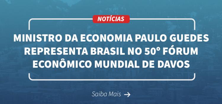 Ministro da Economia Paulo Guedes representa o Brasil no 50º Fórum Econômico Mundial em Davos