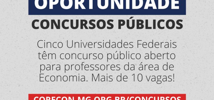 Sete Universidades Federais têm concursos públicos abertos para professores da área de Economia